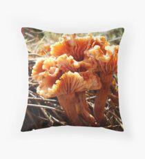 Wax Cap Bouquet Throw Pillow