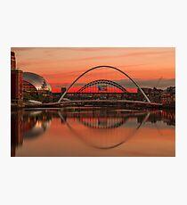 Tyne bridges at Sunset Photographic Print