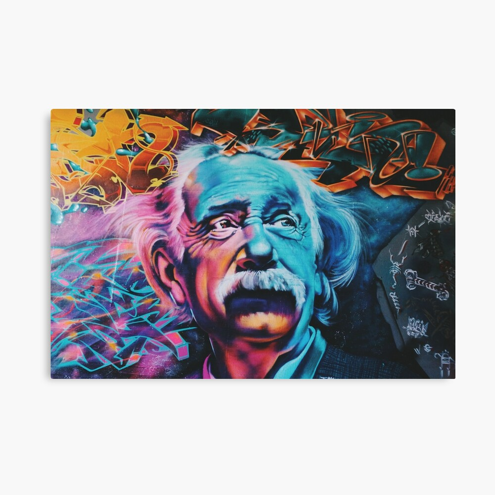 Graffiti Albert Einstein Large Wall Art Print