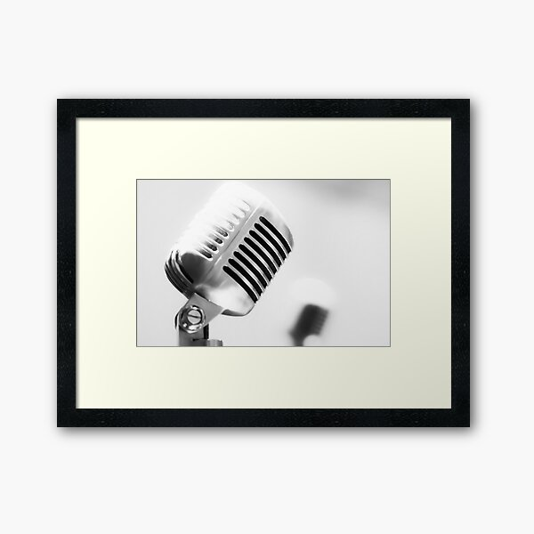 Mic Framed Art Print