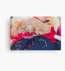 old doll fabric Canvas Print