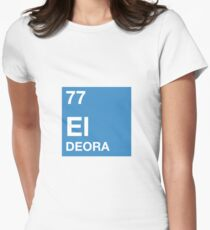 77 El Deora -Periodic Table Women's Fitted T-Shirt