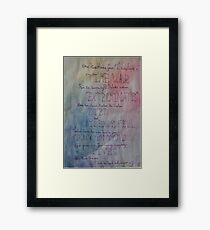 Timelords Framed Print