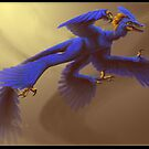 Blue Microraptor by Fable