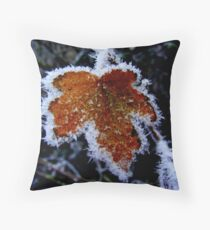 Winter Leaf. Throw Pillow