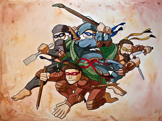 Dead Genius Ninja Artists by Shed