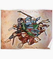 Dead Genius Ninja Artists Poster