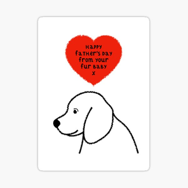 Happy Father's Day From The Dog Sticker