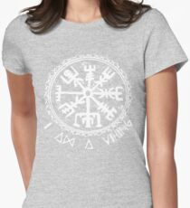 I am a viking (viking compass) #white Womens Fitted T-Shirt