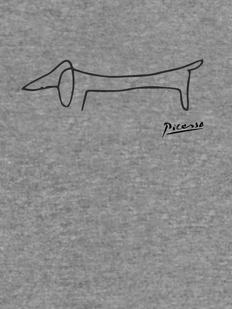 Pablo Picasso Dog (Lump) Artwork Shirt, Sketch Reproduction by clothorama
