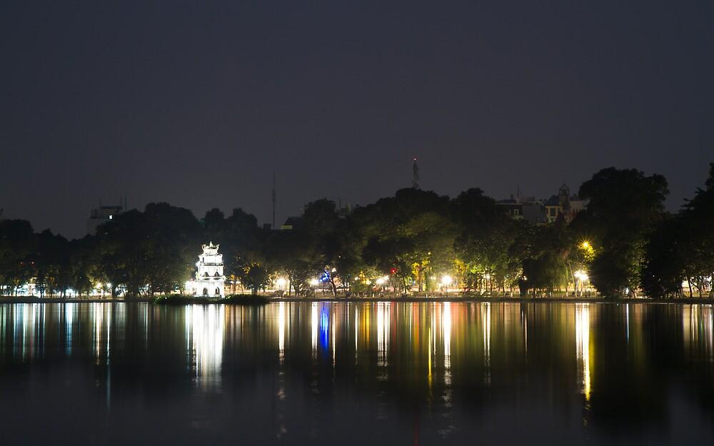 Hoan Kiem Lake - Hanoi by cainey77