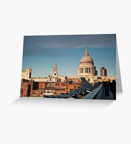 St Paul's Cathedral from the Millennium Bridge, London, UK. Greeting Card