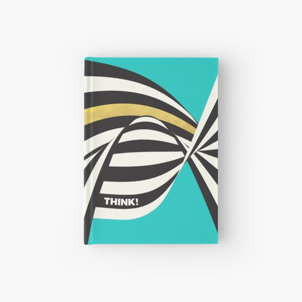 THINK! – Wavy Stripes on Luxury Blue Hardcover Journal