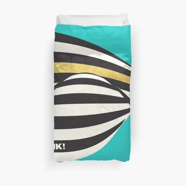 THINK! – Wavy Stripes on Luxury Blue Duvet Cover