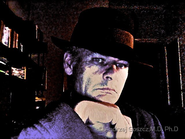The Godfather - Self portrait   - by camera iSigh from MacBook Pro  -  Brown Sugar . Featured 50 + GROUP*** Views (347) Thx!. by © Andrzej Goszcz,M.D. Ph.D