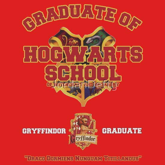 TShirtGifter presents: Graduate of Hogwarts School - Gryffindor