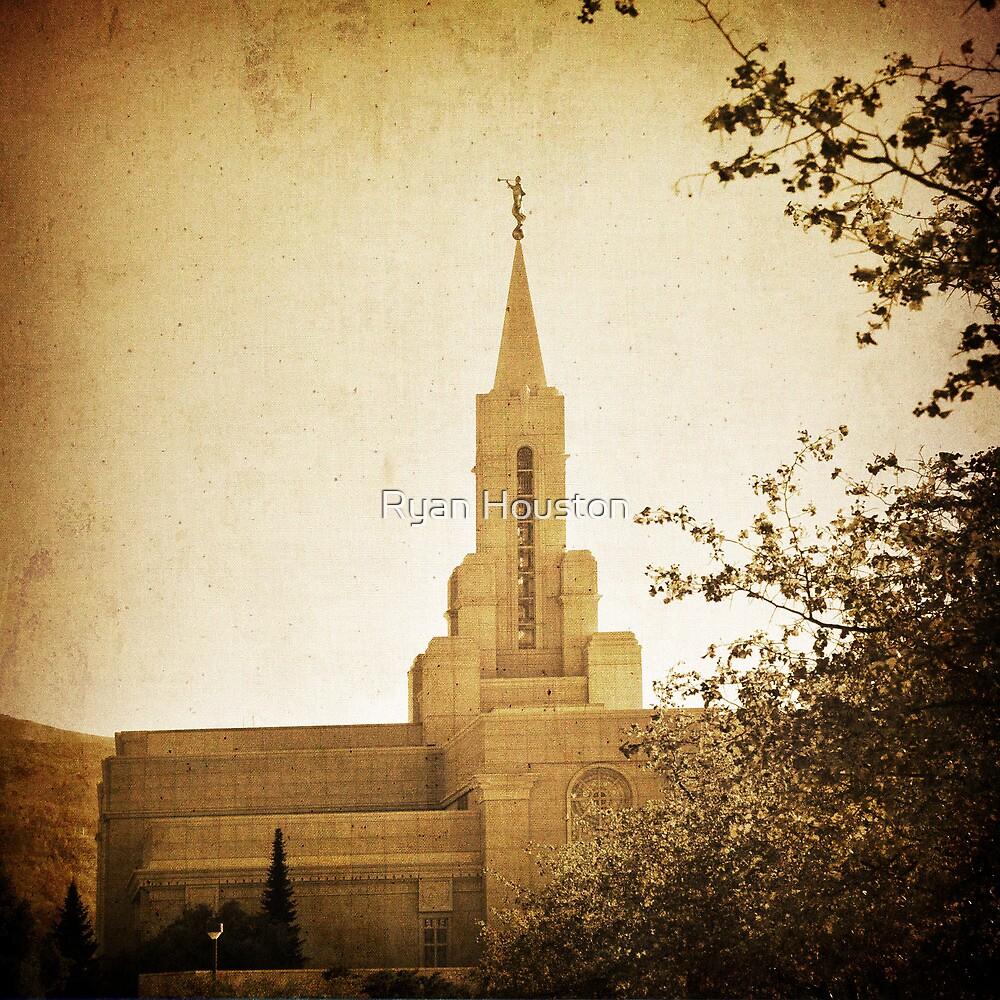 Bountiful LDS Temple - Sepia by Ryan Houston