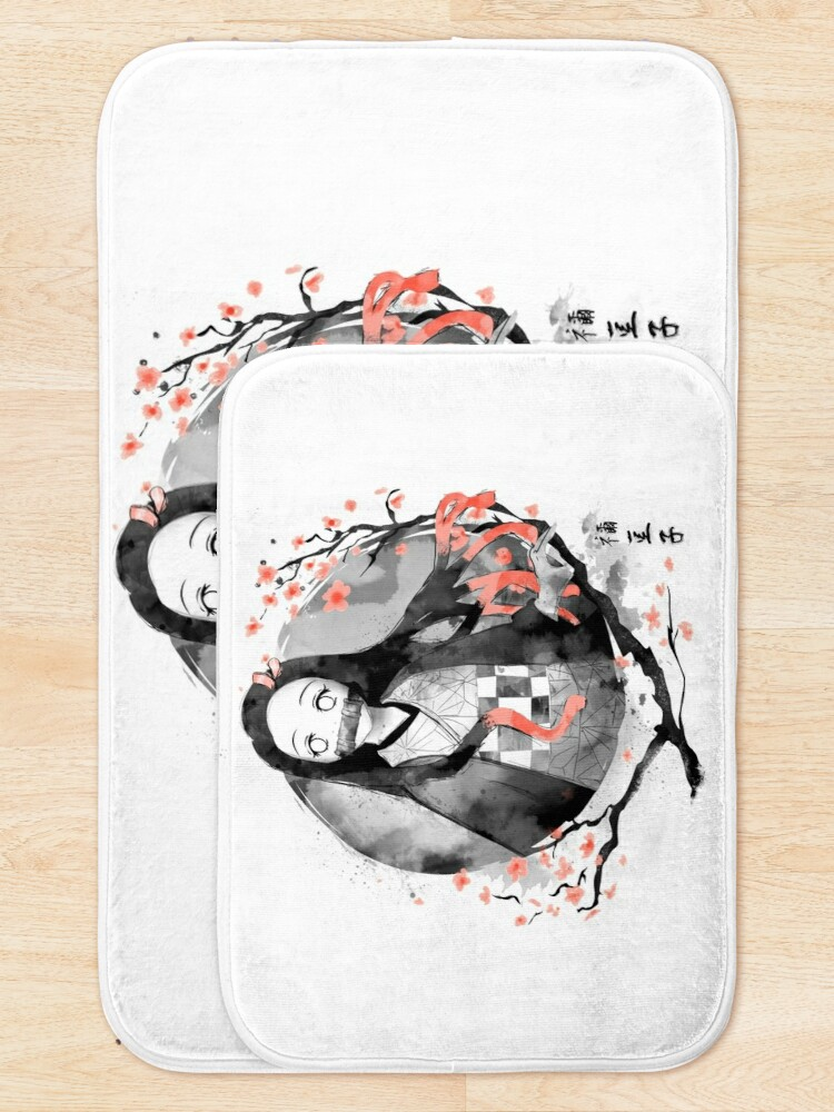 Alternate view of Nezuko Ink Bath Mat