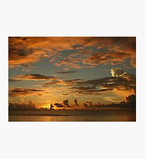South Pacific sunset - Guam Photographic Print