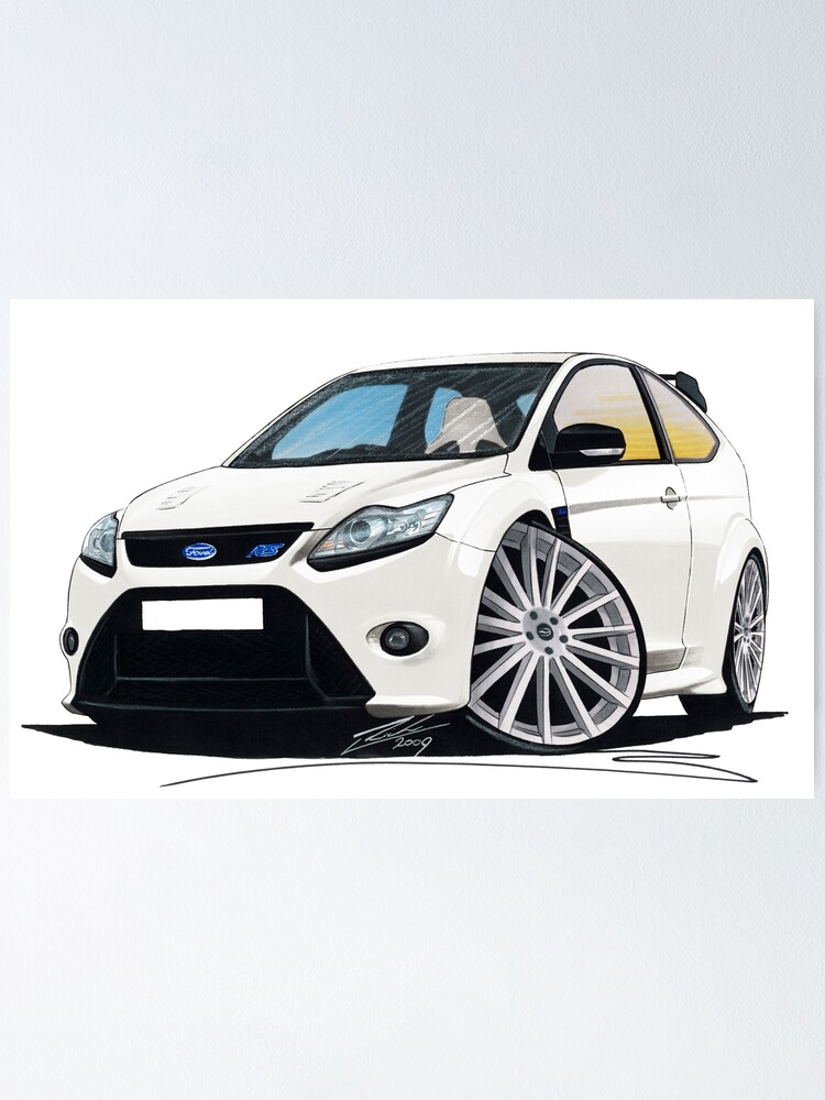 RS Caricature Car Art Print Ford Focus Mk3