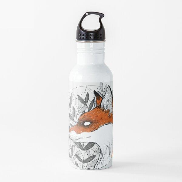 Floral fox Water Bottle