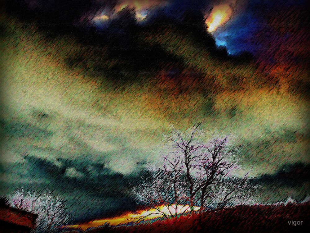 surreal sunset by vigor