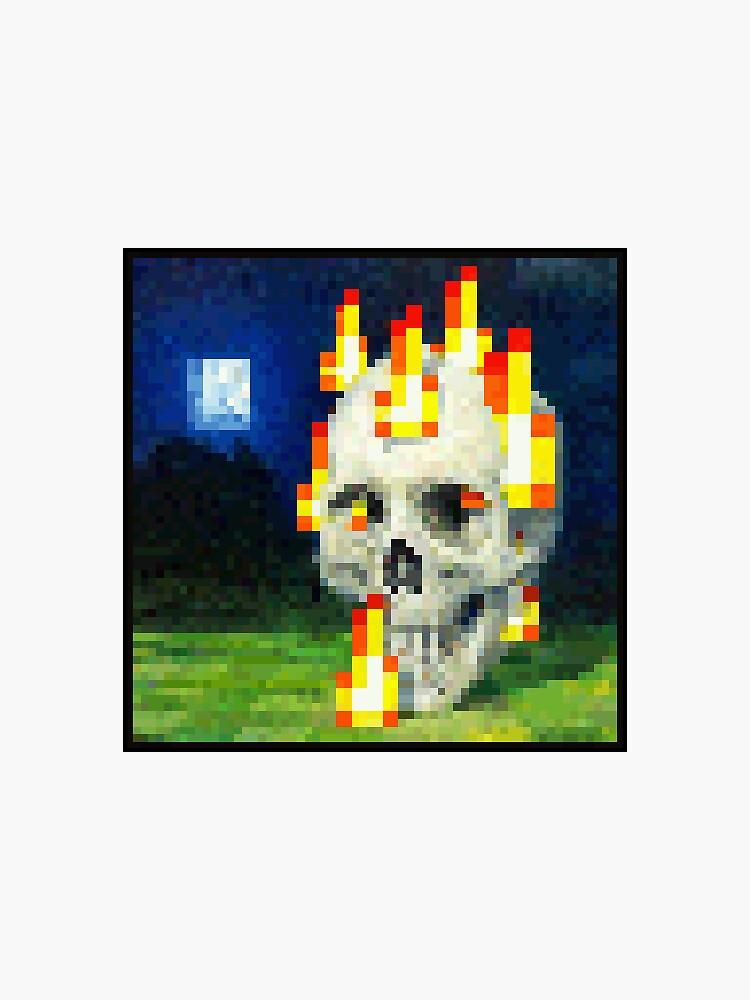 «Crâne brûlant (avec des frontières)» par Pegasi