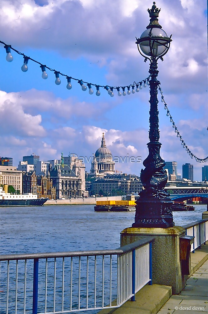 St. Paul's and the River Thames by David Davies