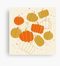 Halloween Cute Pumpkins Canvas Print