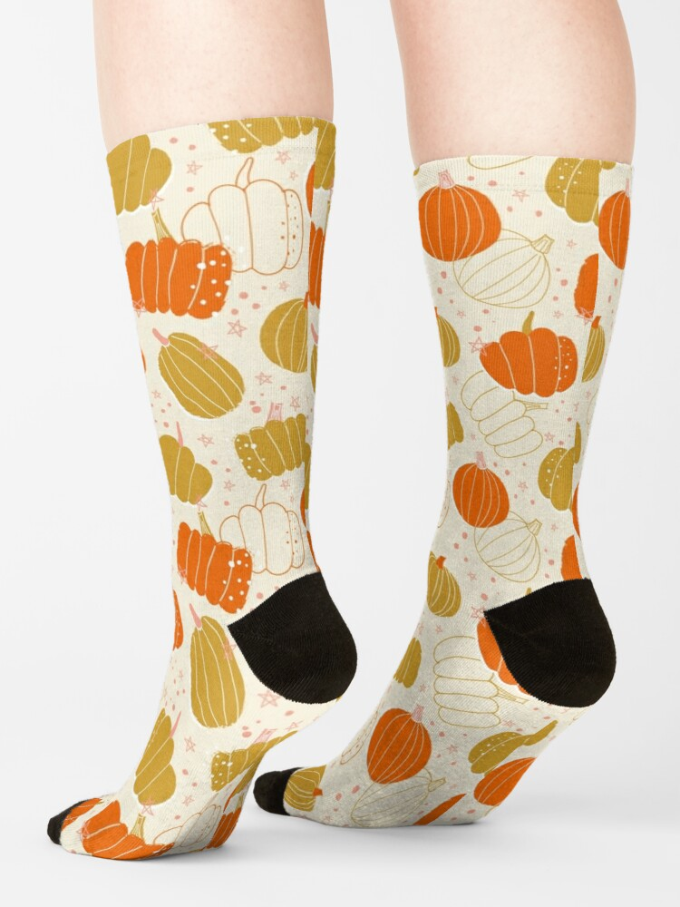 Alternate view of Halloween Cute Pumpkins, halloween gift for woman, halloween home deco, halloween pumpkins, halloween bright color, halloween gifts for woman Socks