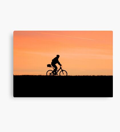Patrolling The Levee Canvas Print