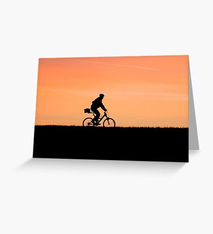 Patrolling The Levee Greeting Card