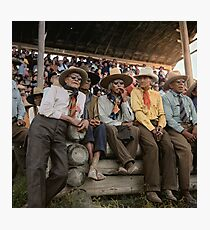 Crow Native Americans watching the rodeo at Crow fair in Montana, 1941 Photographic Print