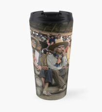 Crow Native Americans watching the rodeo at Crow fair in Montana, 1941 Travel Mug
