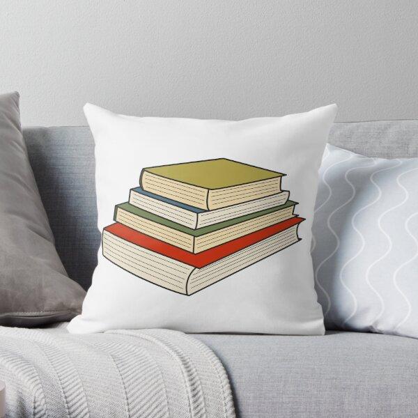 Pile of Books Throw Pillow