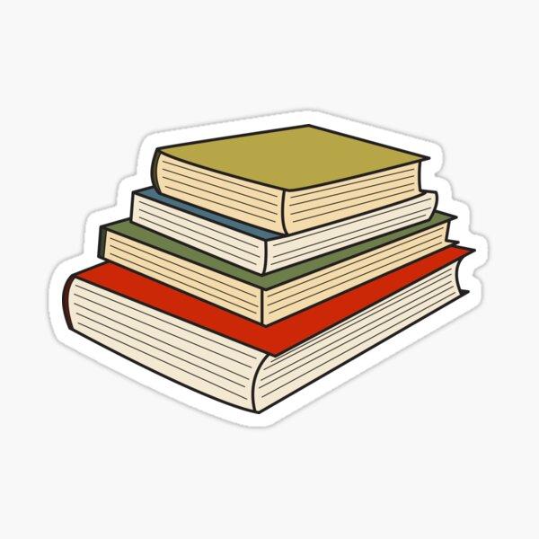 Pile of Books Sticker