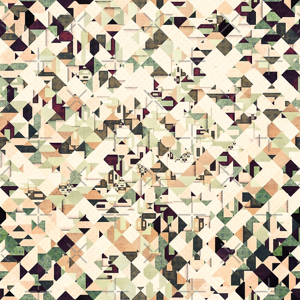 Grunge Pattern of Squares by Phil Perkins