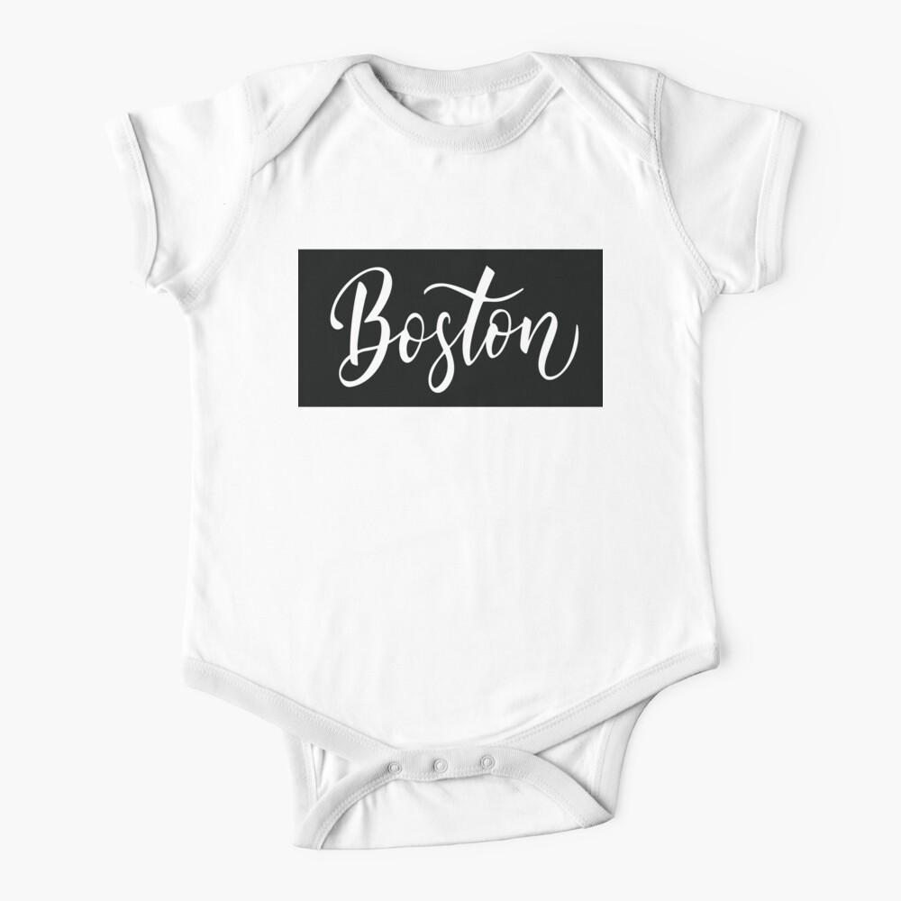 Funny Baby T-Shirt Boston Toddler Tee Shirt MA Baseball Font