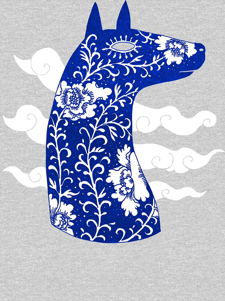The Water Horse in Blue and White | Unisex T-Shirt