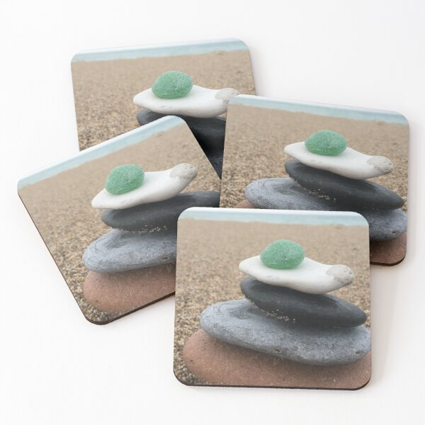Stone stacking in Thy Coasters (Set of 4)