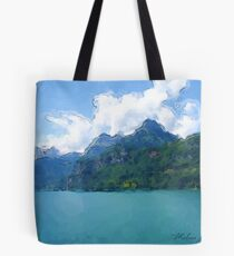 Vibrant Lake Tote Bag