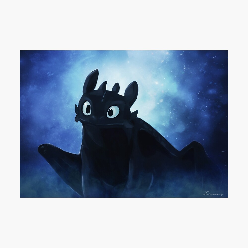 Toothless - painting Photographic Print