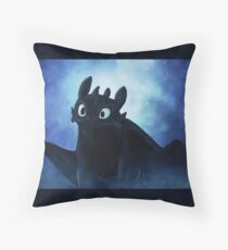 Toothless - painting Throw Pillow