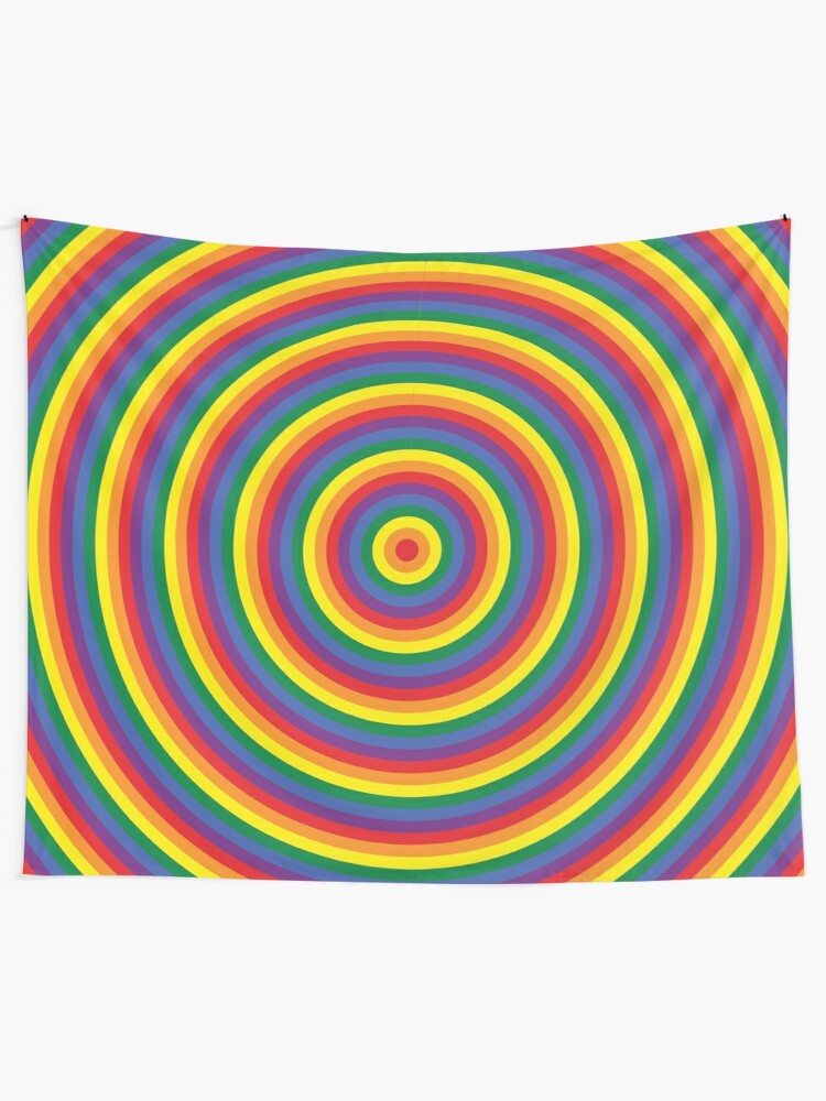 Alternate view of rainbow Tapestry