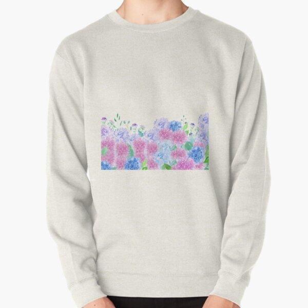 The Beauty Of Hydrangeas Watercolor Pullover Sweatshirt