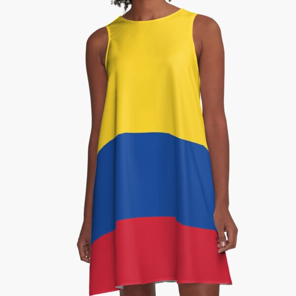 Colombian Flag - Flag of Colombia A-Line Dress