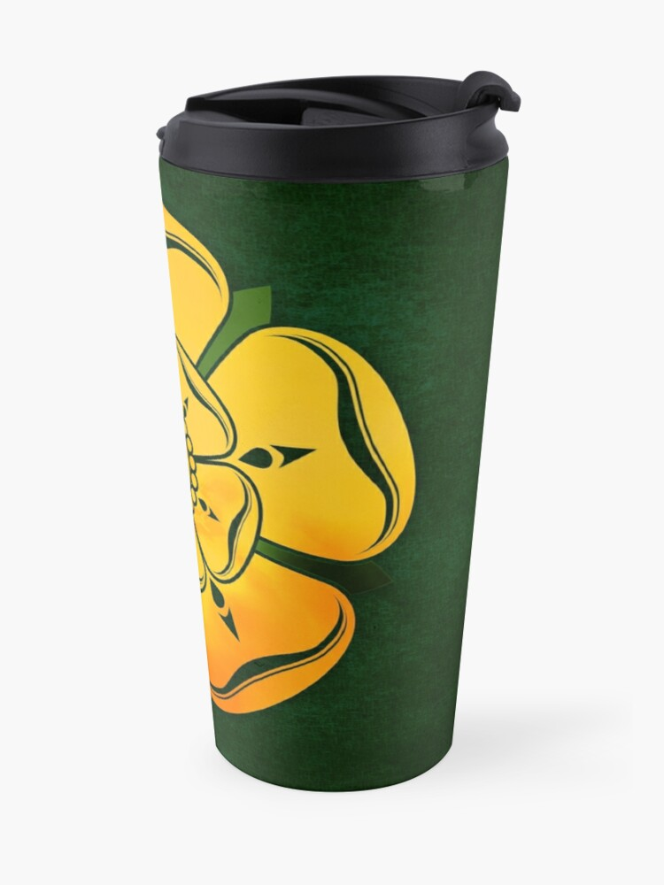 Alternate view of Gold Rose Travel Mug
