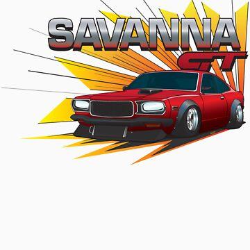 Mazda RX-3 Savanna GT by DaveCT