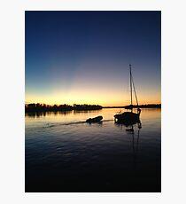 Sail Boat on the Parana River Photographic Print