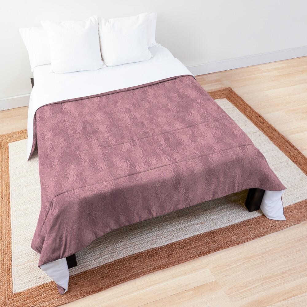 Light Crinkled Blush Foil Comforter